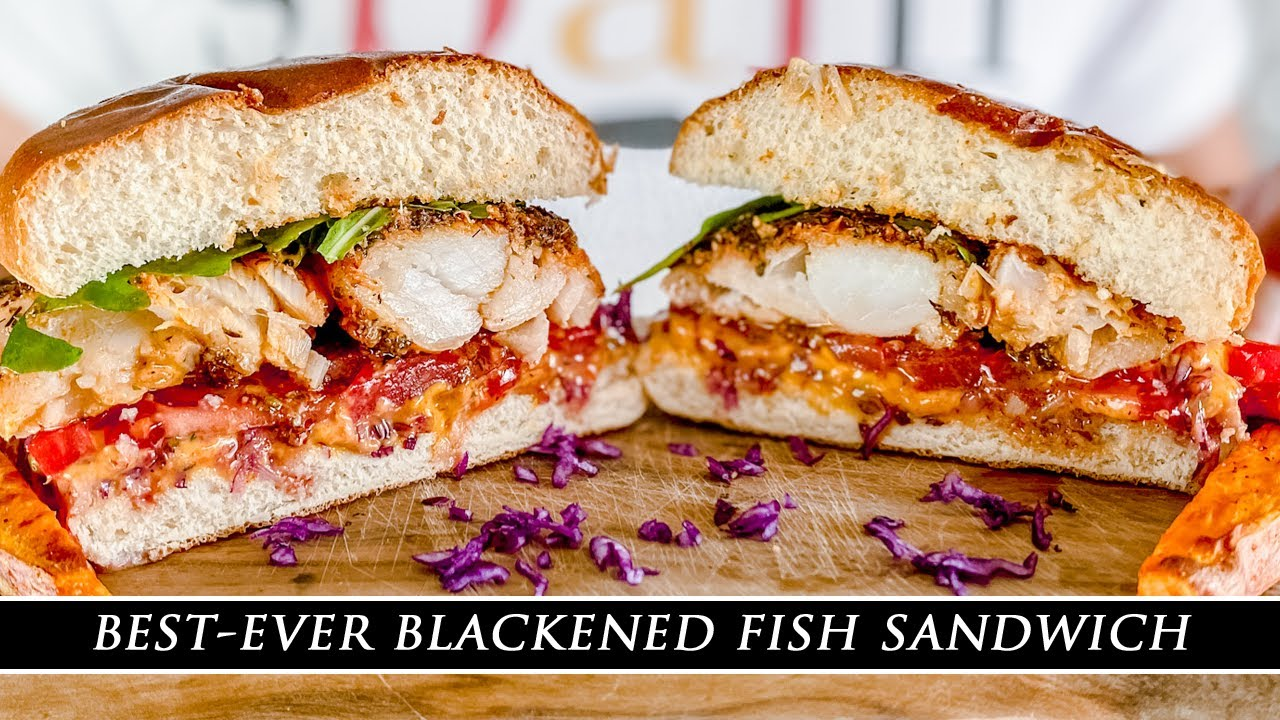 Delicious Blackened Fish Sandwich with Spicy Mayo Aioli