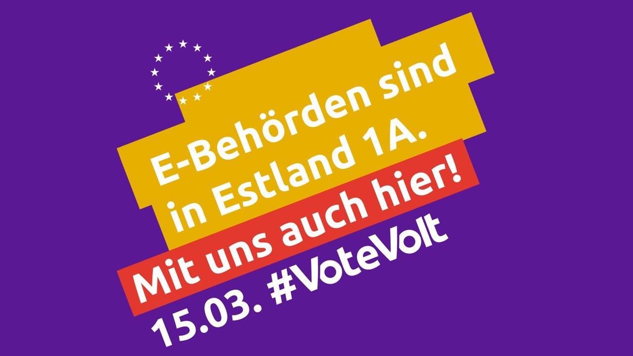 E-Behörden sind in Estland 1A – Mit uns auch in München! #VoteVolt