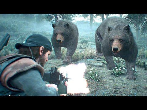 Days Gone Bear Master - Hunting Bears ! No Damage PS4 PRO 4k