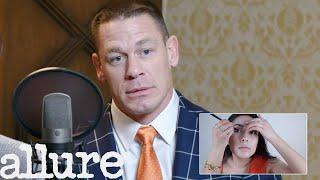 john cena narrates a makeup tutorial with ike barinholtz allure