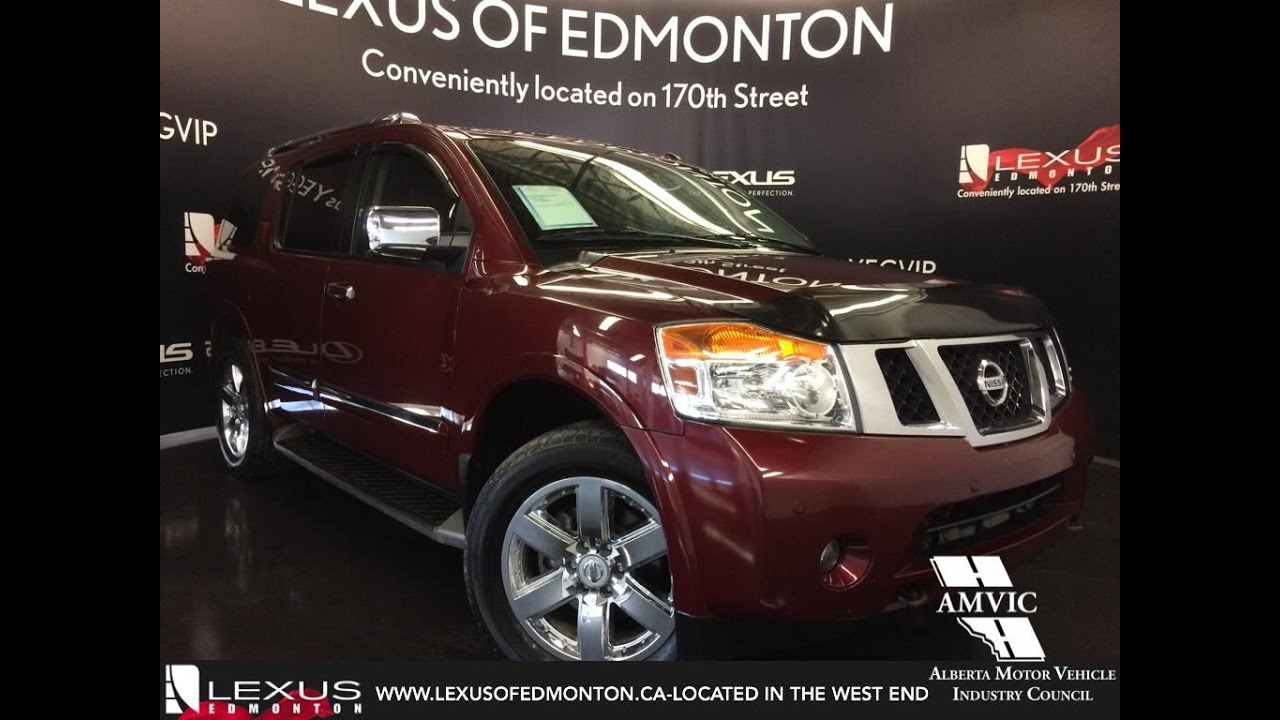 Used 2011 Red Nissan Armada 4WD Platinum Edition In Depth Review Stony  Plain Alberta