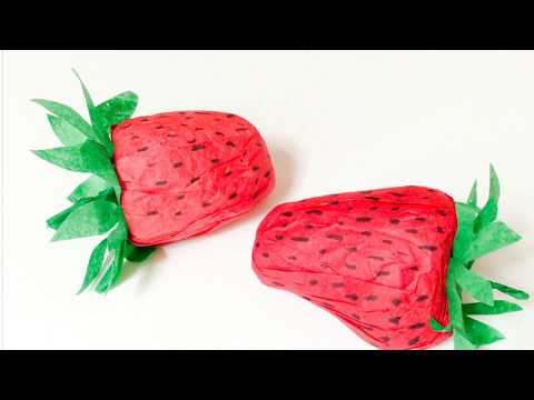 DIY: faire une fraise en papier. Make a paper strawberry.