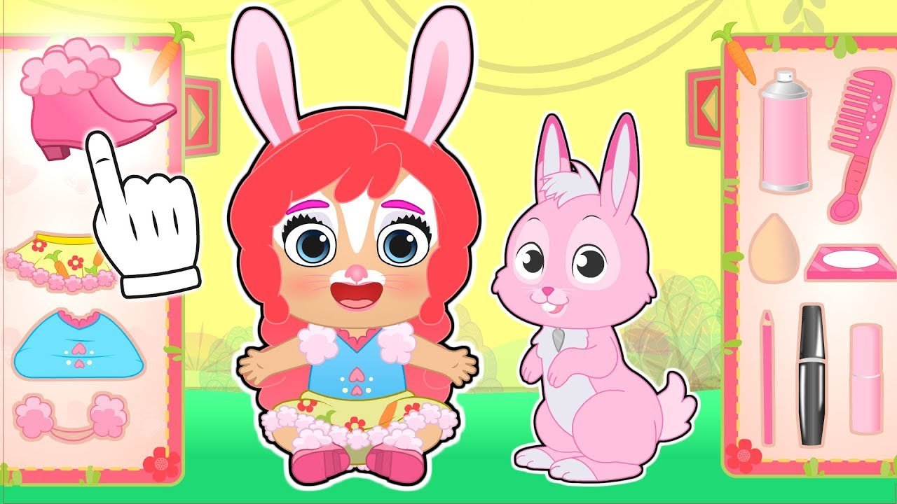baby-lily-and-ruby-dress-up-as-enchantimals-bree-bunny-and-twist-children-s-cartoons