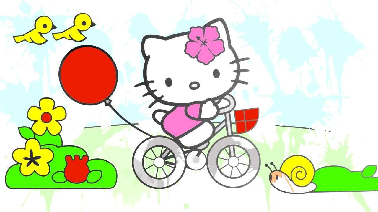çizgi Film Hello Kitty Boyama Kitabı Renkleri öğreniyoruz