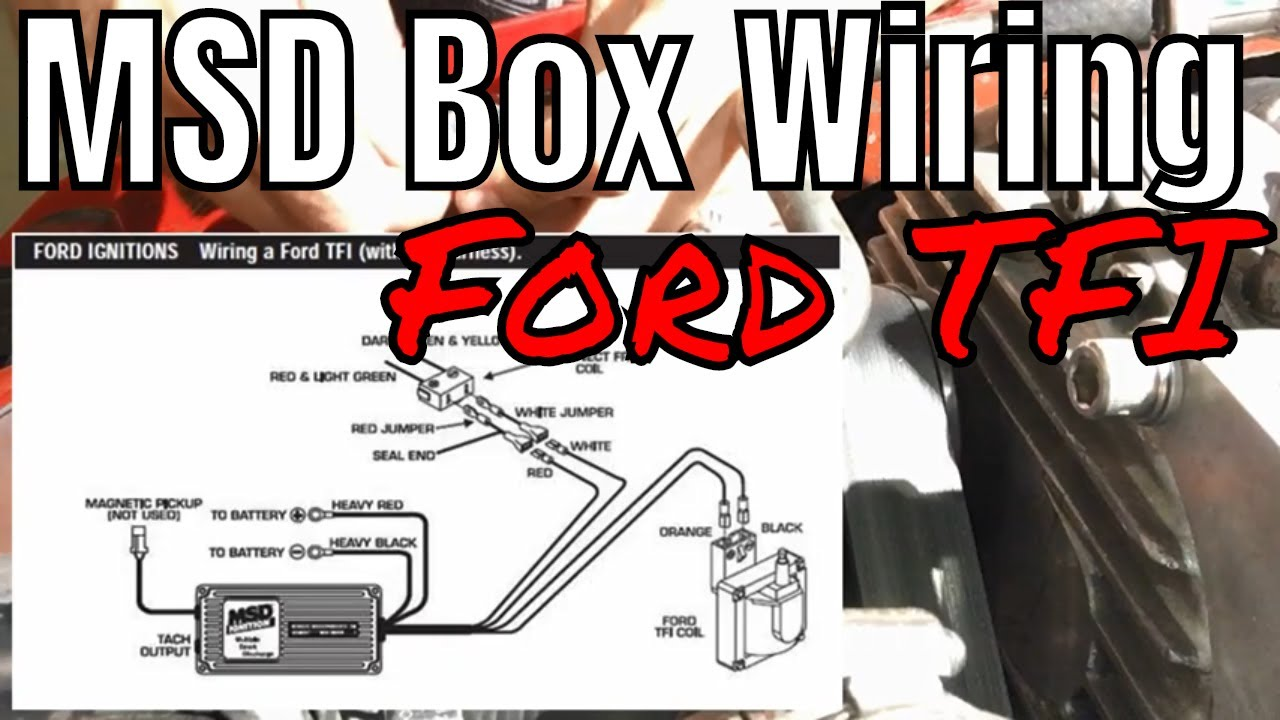 MSD Wiring to Ford TFI Style Ignition, FoxBody, F150, Ford TFI - YouTube | Wiring Msd 6 Into 1978 Ford |  | YouTube