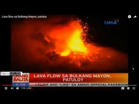 GSM Update 1/24/18 (edit) Mayon Lava Fountain - Record Cold & Snow - Quake Uptick - Historic Famine