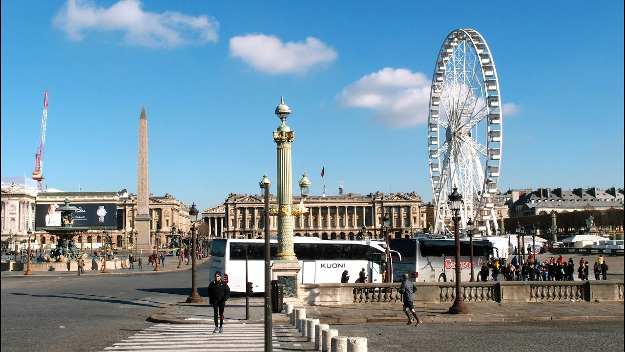 la grande roue the big wheel place de la concorde dimanche paris visite france youtube. Black Bedroom Furniture Sets. Home Design Ideas