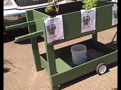 Grow Vegetables Anywhere With The Garden On Wheels A Mobile Waist High Raised Bed You