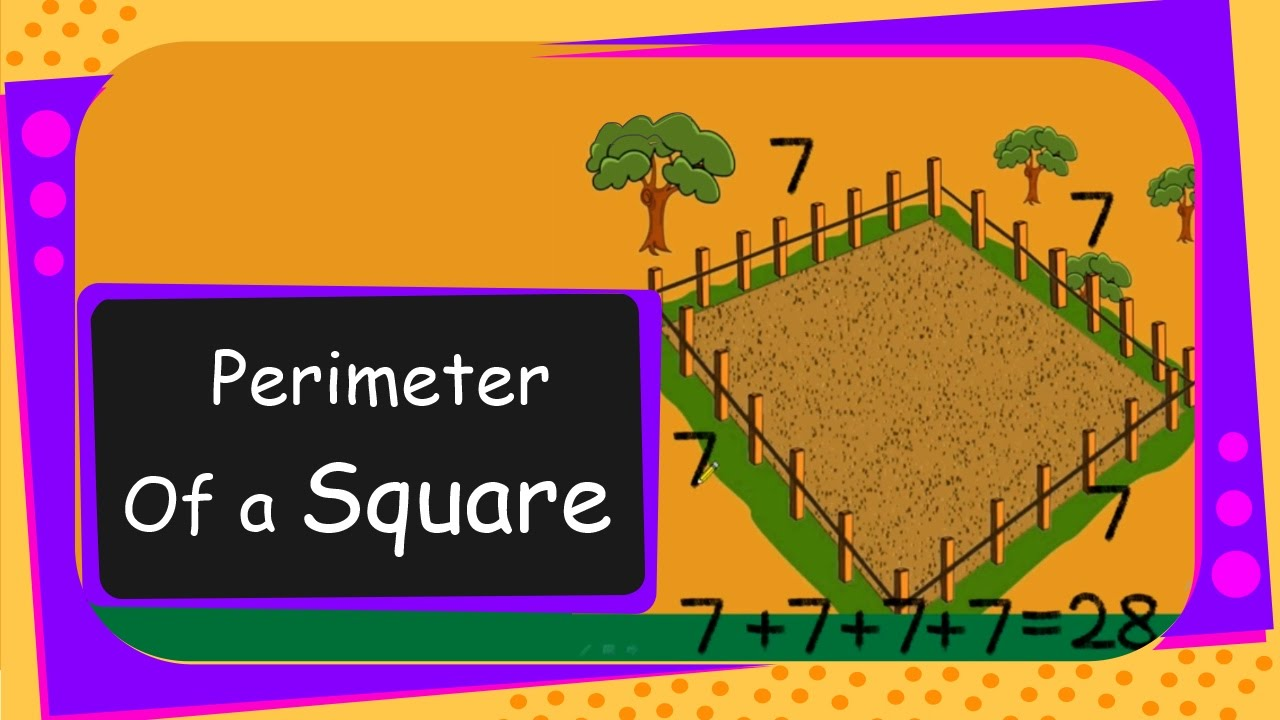 maths perimeter of a square english youtube