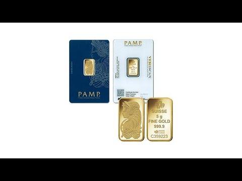 5Gram Prooflike PAMP Suisse Lady Fortuna .9999 Gold Ingot