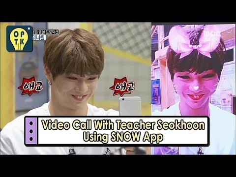[Oppa Thinking - Wanna One] Video Call With Teacher Seokhoon Using SNOW App, 오빠생�0911