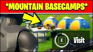 VISIT MOUNTAIN BASE CAMPS LOCATIONS (Fortnite OVERTIME Challenge Locations)