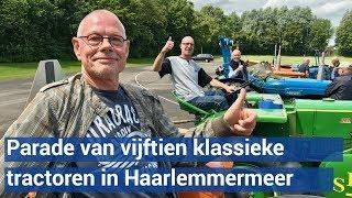 Parade van klassieke tractoren trekt dwars door Haarlemmermeer