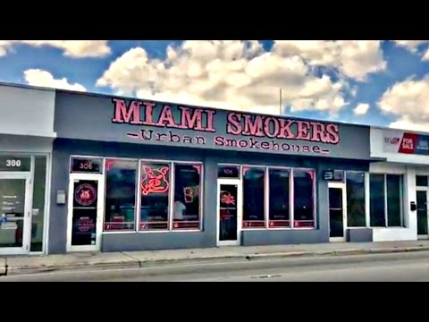 "MIAMI SMOKERS from Guy Fieri's ""DINERS, DRIVE-INS, AND DIVES"" (Where to EAT in Miami)"
