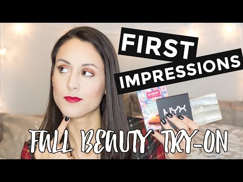 Fall Haul First Impressions | Trying on New Makeup!