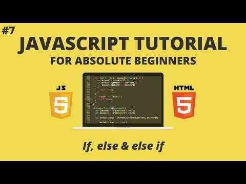 JavaScript for Beginners #7 - If, Else If, Else thumbnail