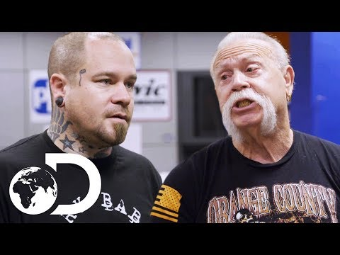 Paul Sr. & Josh Disagree On Plans For A Paintball Themed Bike | American Chopper