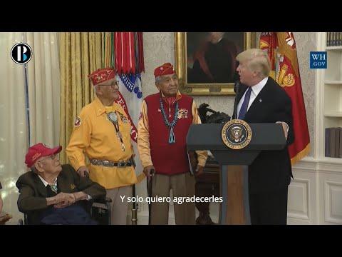 Trump crea polémica por llamar Pocahontas a senadora