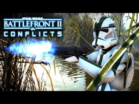 Star Wars Battlefront 2 Conflicts - Behind Enemy Lines on Kashyyyk (Episode 2) The Clone Wars