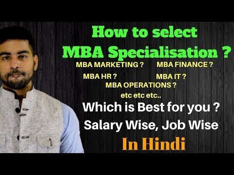 Right MBA Program for you  |Best MBA Program in India | MBA Specialisation selection
