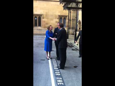 One of Baroness Thatcher's final visits to Parliament