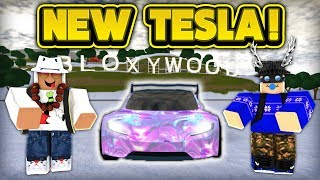 NEW TESLA & HELICOPTER! (ROBLOX Vehicle Simulator)