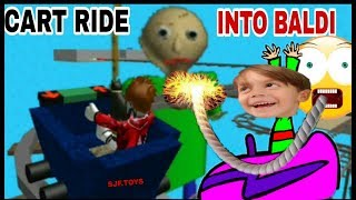 On a ride with the real BALDI in ROBLOX: CART RIDE INTO BALDI
