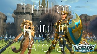 Lords mobile | We get 1 million point in Dragon Arena