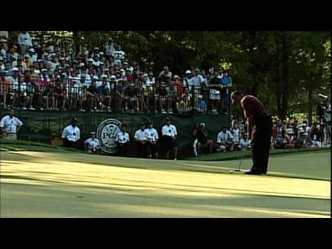 Tiger Woods and Bob May duel at 2000 PGA Championship