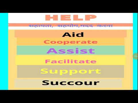 Synonyms of Help in Hindi & English