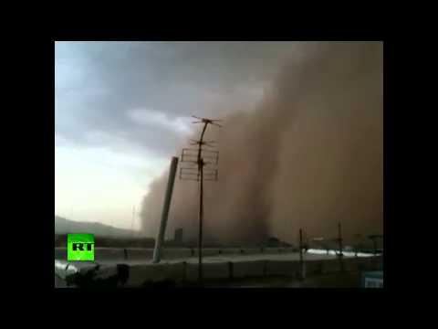 Iran dust storm video: Freak sandstorm swallows Tehran
