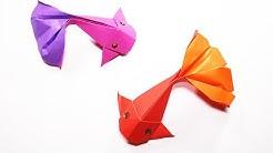 How to make Origami Fish Koi (sipho mabona) - YouTube   138x246