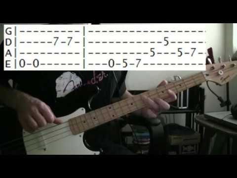 bass guitar lesson Kansas carry on wayward son tab - YouTube