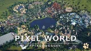 Planet Coaster: Pixel World - complete theme park