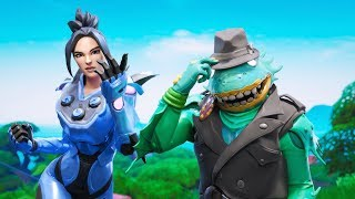 """""""Neo"""" and """"Detective Merman"""" Skin *CONCEPT* Showcase with Popular Fortnite Emotes!"""