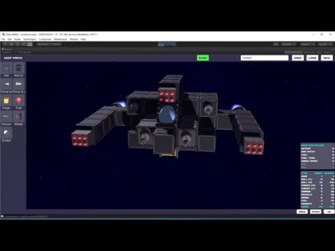 GameDev WIP - Space Combat Craft Construction