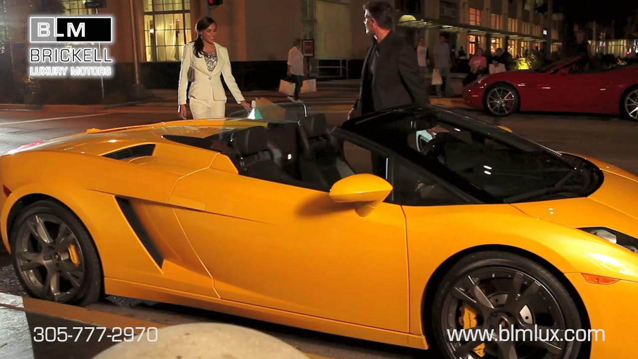 Hot sports cars in miami from brickell luxury motors youtube for Wing motors automobiles miami fl