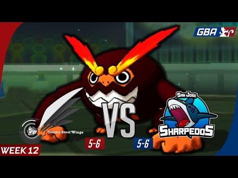 GBA WiFi Battle | S7 - W12 | CrimsonCBAD's Detroit Steel Wings vs. San Jose Sharpedos