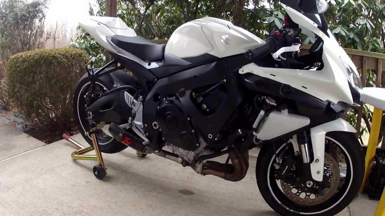 09 gsxr 750 akrapovic slip on exhaust cat delete youtube. Black Bedroom Furniture Sets. Home Design Ideas