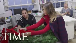 See How Melania Trump Decorated For The Trump's First Christmas In The White House | TIME