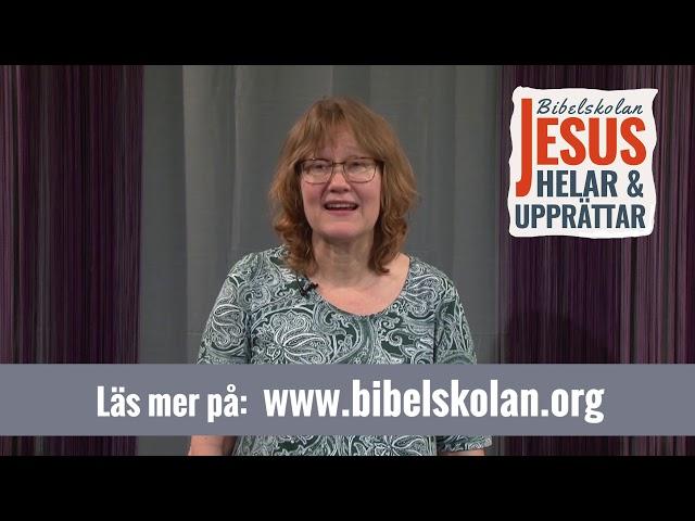 Annelis vittnesbörd från Arkens bibelskola Jesus Helar och Upprättar