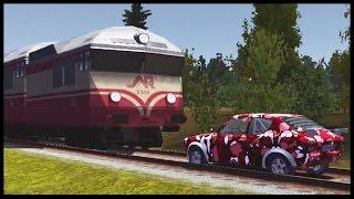 Trenul ne loveste Masina !