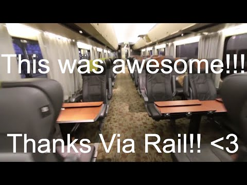 Via Rail 150 Business Class!! Montreal to Toronto