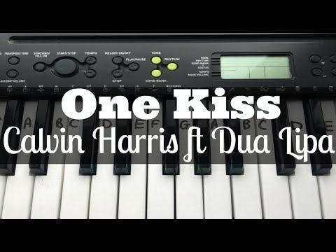 One Kiss - Calvin Harris ft Dua Lipa | Easy Keyboard Tutorial With Notes