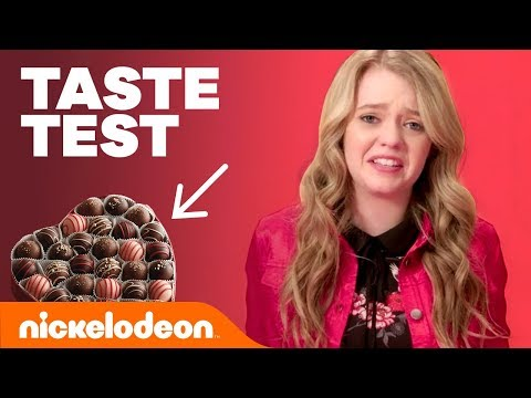 Valentine's Day Taste Test ❤️  W/ Jade Pettyjohn, Daniella Perkins, Breanna Yde & More! | Nick