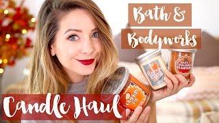 Bath & Body Works Autumn Candle Haul   Zoella