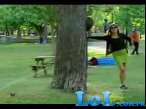 In park peeing