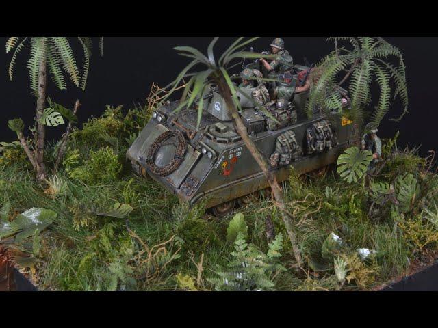 Vietnam War - Jungle Ambush - Diorama 1/72