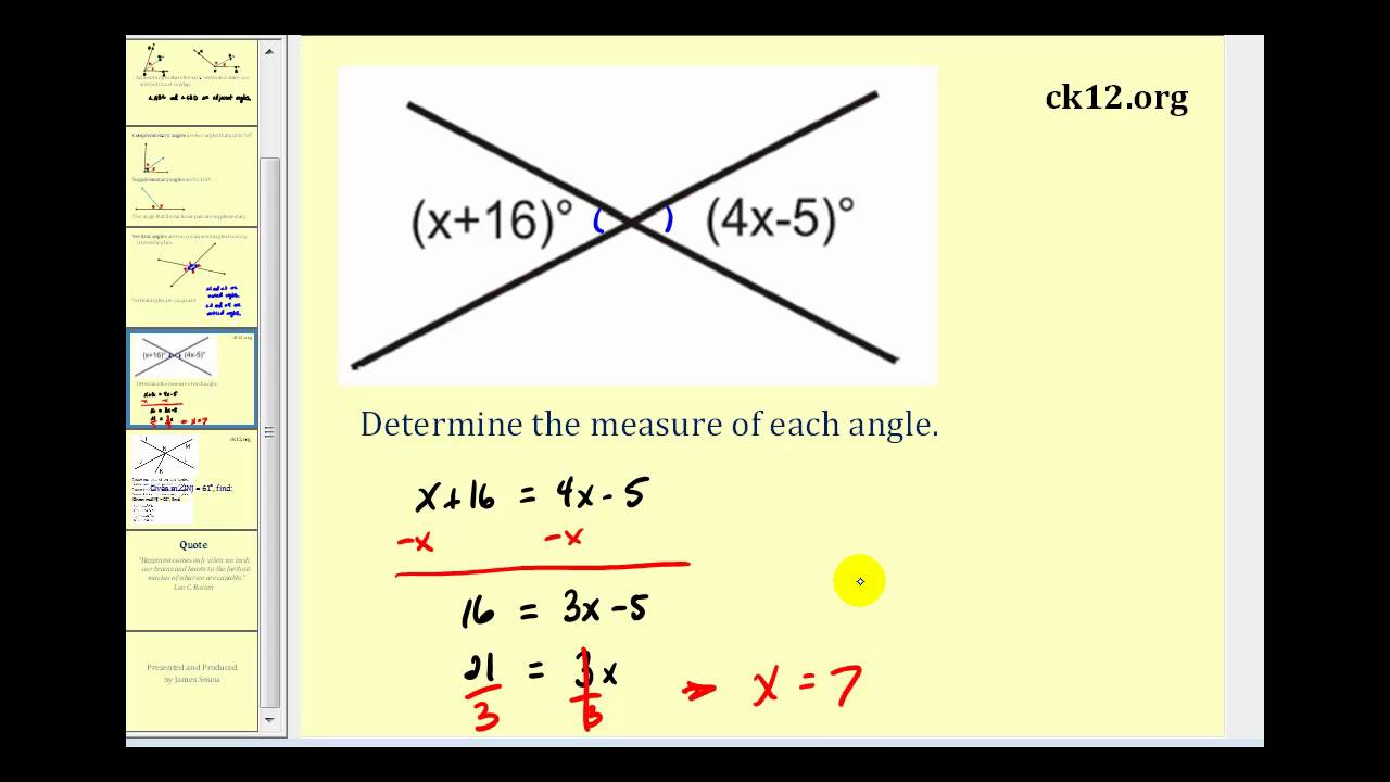 hight resolution of Finding Angles (examples