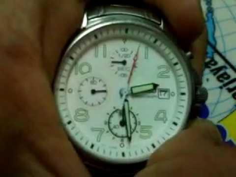 Seiko Chronograph 7t92 Stopwatch Hand Position Adjustment Youtube